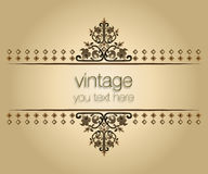 Ornate vintage frames 02. Eastern oriental style ornate old frame pattern Stock Images