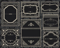 Ornate Vintage Frames Royalty Free Stock Images