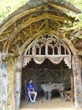 Ornate Vintage Garden House At Belvoir Castle Stock Photo