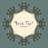 Ornate vintage label. Vintage label can be used on a website, postcards, greetings. Wonderful decorated vector illustration