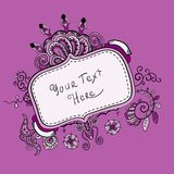 Ornate vintage label. Vintage label can be used on a website, postcards, greetings. Wonderful decorated royalty free illustration