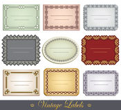 Ornate Vintage Labels Royalty Free Stock Images