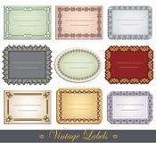 Ornate Vintage Labels Royalty Free Stock Images
