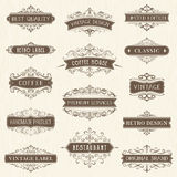 Ornate Vintage Labels Stock Photo