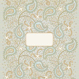 Ornate vintage seamless border. With lacy ornament. Persian style background. Place for your text. It can be used for decorating of invitations, greeting cards Stock Photos