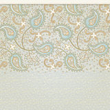 Ornate vintage seamless border. With lacy ornament. Persian style background. Place for your text. It can be used for decorating of invitations, greeting cards Stock Photography