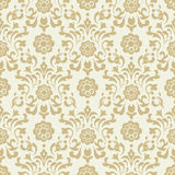 Ornate vintage seamless damask background Stock Photos