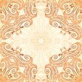 Ornate vintage seamless pattern in mehndi style Stock Photo