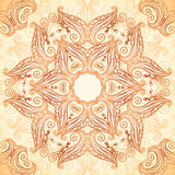 Ornate vintage seamless pattern in mehndi style Royalty Free Stock Photography