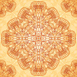 Ornate vintage seamless pattern in mehndi style Royalty Free Stock Photo