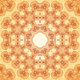 Ornate vintage seamless pattern in mehndi style Royalty Free Stock Image