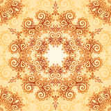 Ornate vintage seamless pattern in mehndi style Stock Photos
