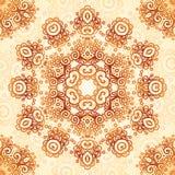 Ornate vintage seamless pattern in mehndi style Stock Photos