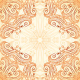 Ornate vintage seamless pattern in mehndi style Royalty Free Stock Photos