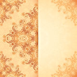 Ornate vintage template in Indian mehndi style Stock Photography