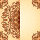 Ornate vintage template in Indian mehndi style Royalty Free Stock Image