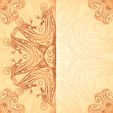 Ornate vintage template in Indian mehndi style Stock Photos