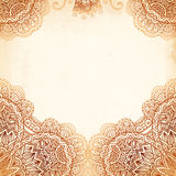 Ornate vintage vector background in mehndi style Royalty Free Stock Photography