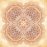 Ornate vintage vector background in mehndi style Stock Image