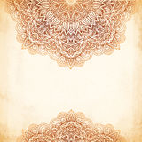 Ornate vintage vector background in mehndi style Royalty Free Stock Photo