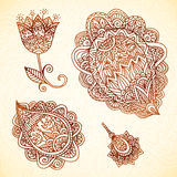 Ornate vintage vector elements in Indian style Royalty Free Stock Photo