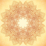 Ornate vintage vector flower napkin background Royalty Free Stock Photo