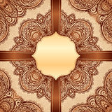 Ornate vintage vector napkin background Stock Photos