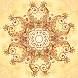 Ornate vintage vector pattern in mehndi style Royalty Free Stock Photos