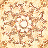 Ornate vintage vector pattern in mehndi style Royalty Free Stock Image