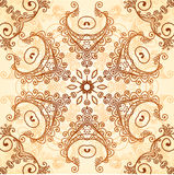 Ornate vintage vector pattern in mehndi style Royalty Free Stock Photography