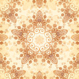 Ornate vintage vector pattern in mehndi style Stock Images