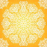 Ornate vintage yellow lacy seamless pattern Royalty Free Stock Photos