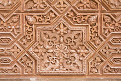 Ornate wall carving background Royalty Free Stock Images