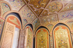 Ornate wall and ceiling in a palace Stock Photography