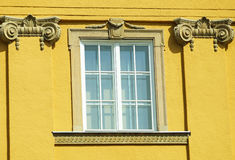 Ornate wall and window Stock Images