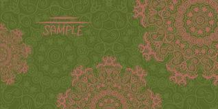 Ornate wedding invitation card based on indian Stock Image
