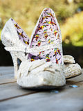 Wedding shoes. Ornate wedding shoes in full colour Stock Photos