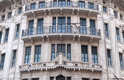 Ornate western colonial architecture at Bund boulevard in Shanghai Royalty Free Stock Image