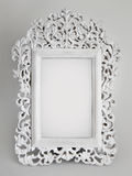 Ornate white frame. Delicately crafted beautiful vintage inspired white frame with room for your picture or text Stock Photography