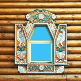 Ornate window royalty free stock photography