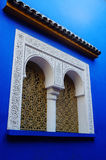 Ornate window in Majorelle Royalty Free Stock Photos