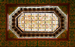 Ornate window in moroccan palace Stock Photos