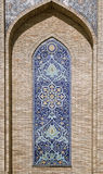 Ornate window niche in the wall, Uzbekistan Royalty Free Stock Photography