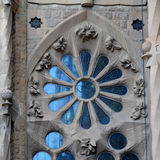 Ornate window -Sagrada Familia Stock Photos