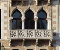 Ornate windows and balcony in Venice, Italy. royalty free stock photo