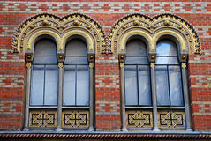 Ornate windows of orthodox church, Vienna, Austria Royalty Free Stock Images