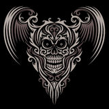 Ornate Winged Skull Royalty Free Stock Photography