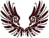 Ornate Wings Royalty Free Stock Photo