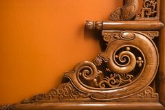 Ornate wooden carving. Royalty Free Stock Photography