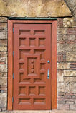 Ornate wooden door royalty free stock image